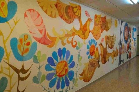 José María Párraga mural in Alhama de Murcia