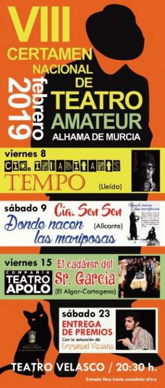 <span style='color:#780948'>ARCHIVED</span> - Alhama de Murcia cultural programme for February and March 2019