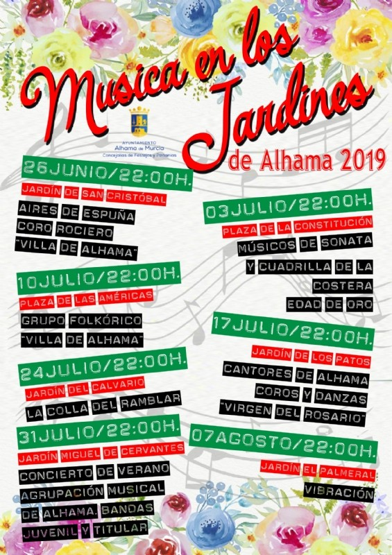 <span style='color:#780948'>ARCHIVED</span> - Wednesday 17th July: Free folk music in Alhama de Murcia; Jardin de los patos