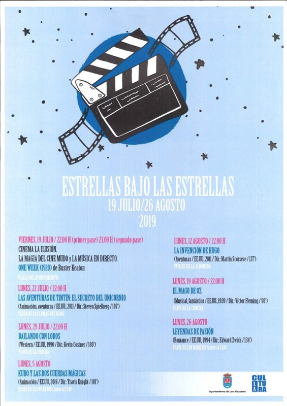 <span style='color:#780948'>ARCHIVED</span> - Friday 19th July Free open air cinema in Los Alcázares
