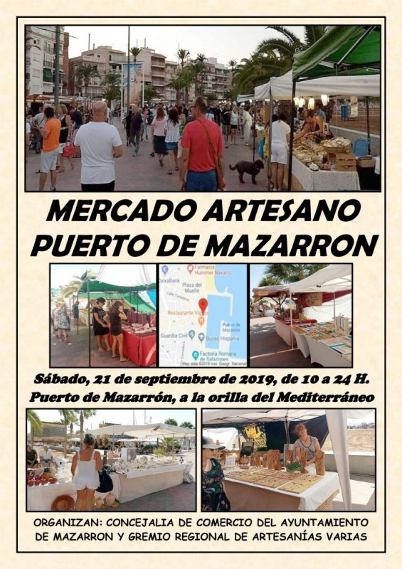 <span style='color:#780948'>ARCHIVED</span> - Saturday 21st September Puerto de Mazarrón, artisan market