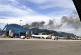 Alicante-Elche airport closed by fire in the terminal building