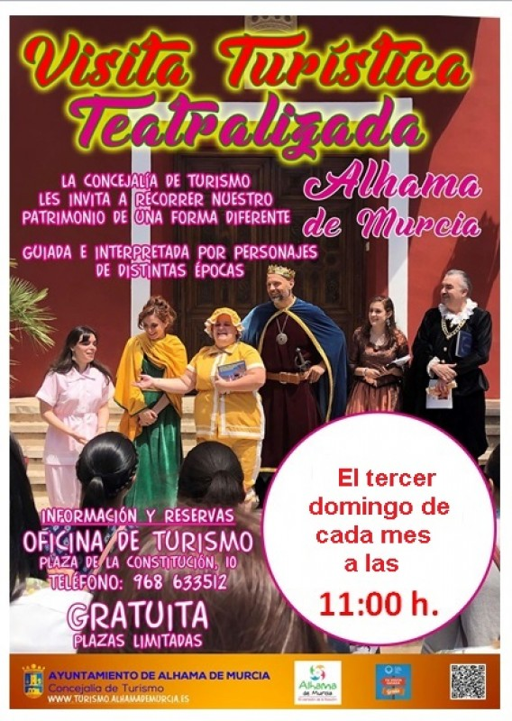 Sunday 19th April Free theatrical guided tour of Alhama de Murcia