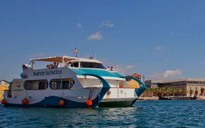 The Cartagena tourist boat, trips around the bay and to the Fuerte de Navidad