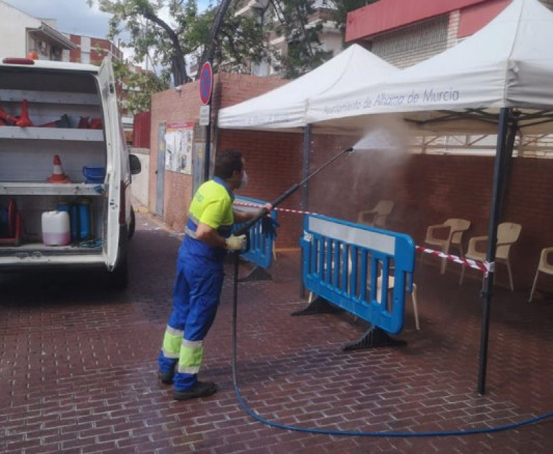 <span style='color:#780948'>ARCHIVED</span> - Disinfection campaign continues in Alhama de Murcia