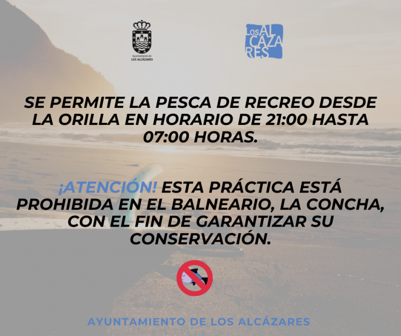 <span style='color:#780948'>ARCHIVED</span> - Fishing permitted on Los Alcázares beaches in the evenings and overnight