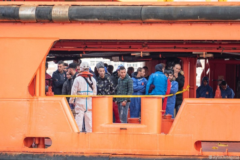 <span style='color:#780948'>ARCHIVED</span> -  A further 170 irregular Algerian immigrants in 13 boats reach the Murcian coastline