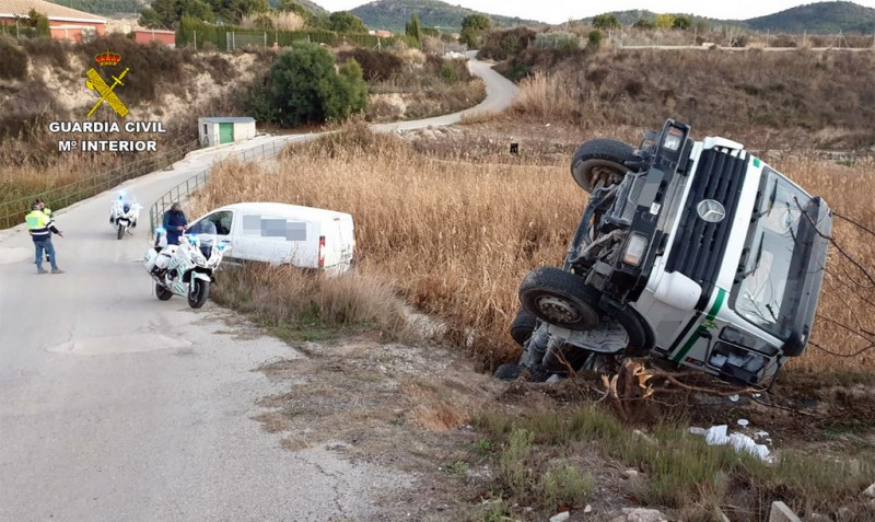<span style='color:#780948'>ARCHIVED</span> - Driver of overturned concrete lorry was 5 times over the legal limit