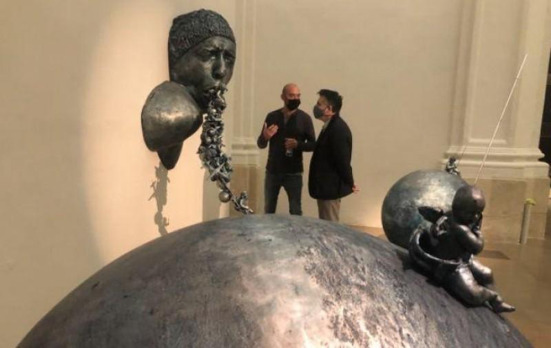 Tu Vuelo, Mis Alas, Lidó Rico sculpture exhibition at the Sala Verónicas in Murcia