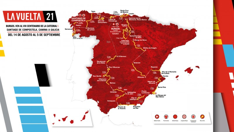 2 stages of the 2021 cycling Tour of Spain in the Region of Murcia
