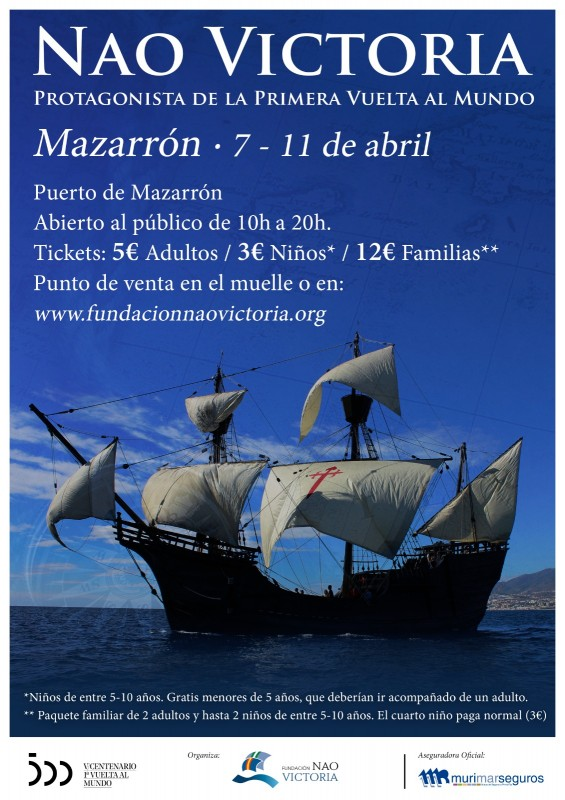 <span style='color:#780948'>ARCHIVED</span> - Nao Victoria replica ship in Puerto de Mazarron April 7 to 11