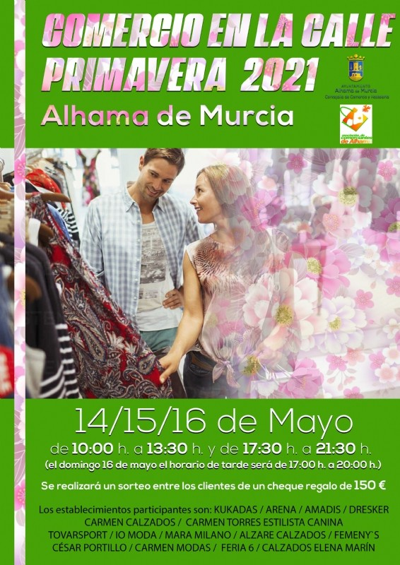 <span style='color:#780948'>ARCHIVED</span> - Alhama de Murcia shops take to the streets in Comercio en la Calle 2021 May 14-16