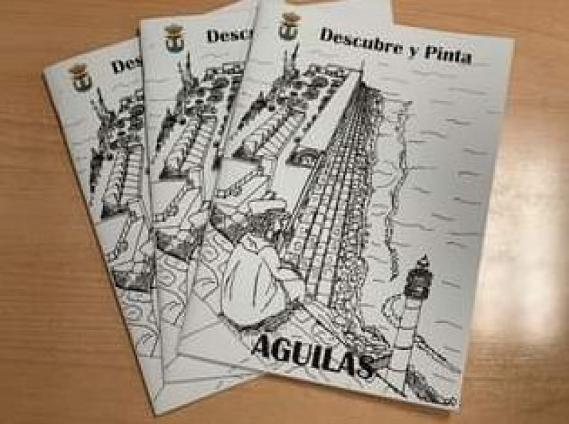 Themed colouring book helps Aguilas visitors to have fun whilst visiting the municipality
