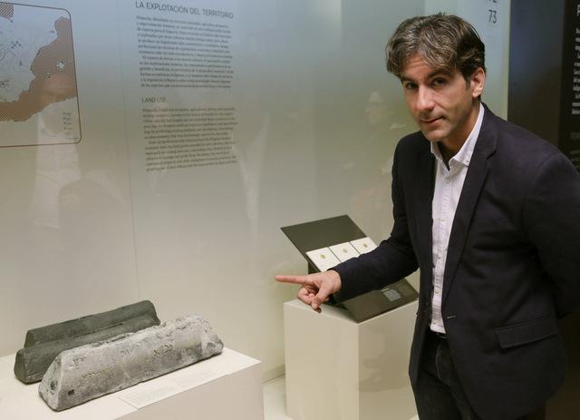 Villajoyosa Roman ingot exhibited in Madrid archaeological museum