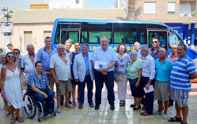 Bus service from Los Alcázares to Los Arcos hospital