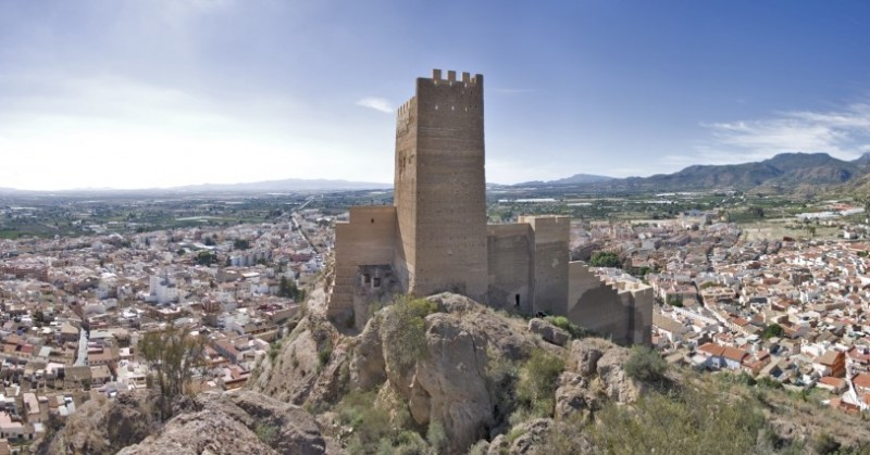 The castle of Alhama de Murcia