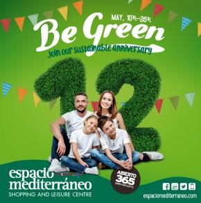 Espacio Mediterráneo Be Green Banner weekly Bulletin